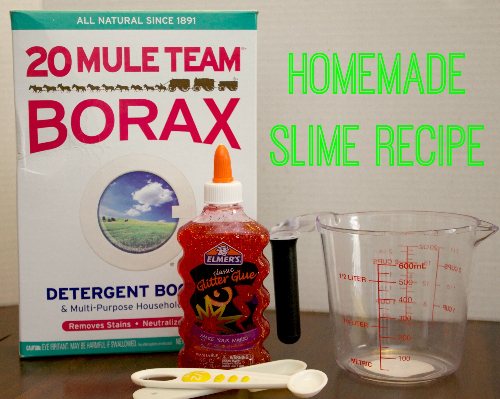 glitter slime recipe ingredient list