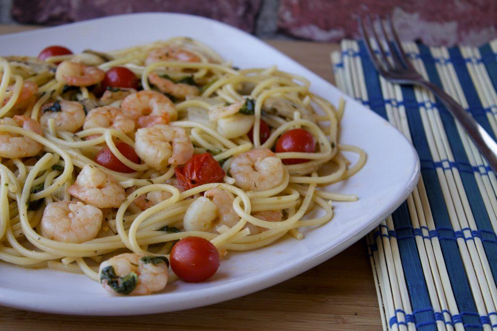 easy marinated shrimp and pasta recipe