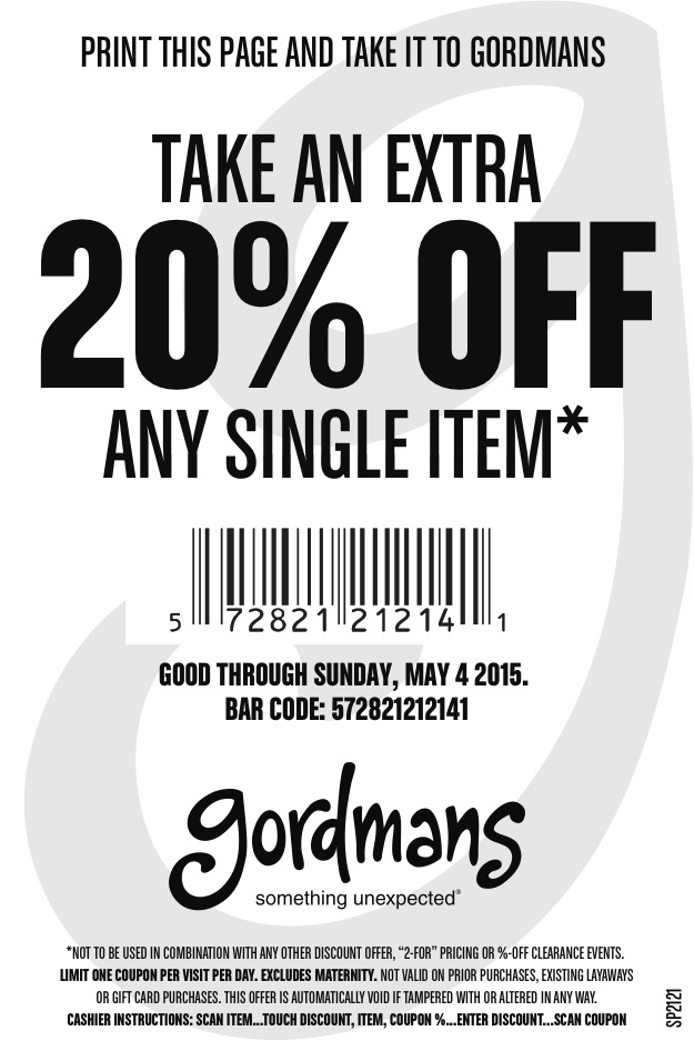 image about Gordmans Printable Coupon called Gordmans Printable Coupon