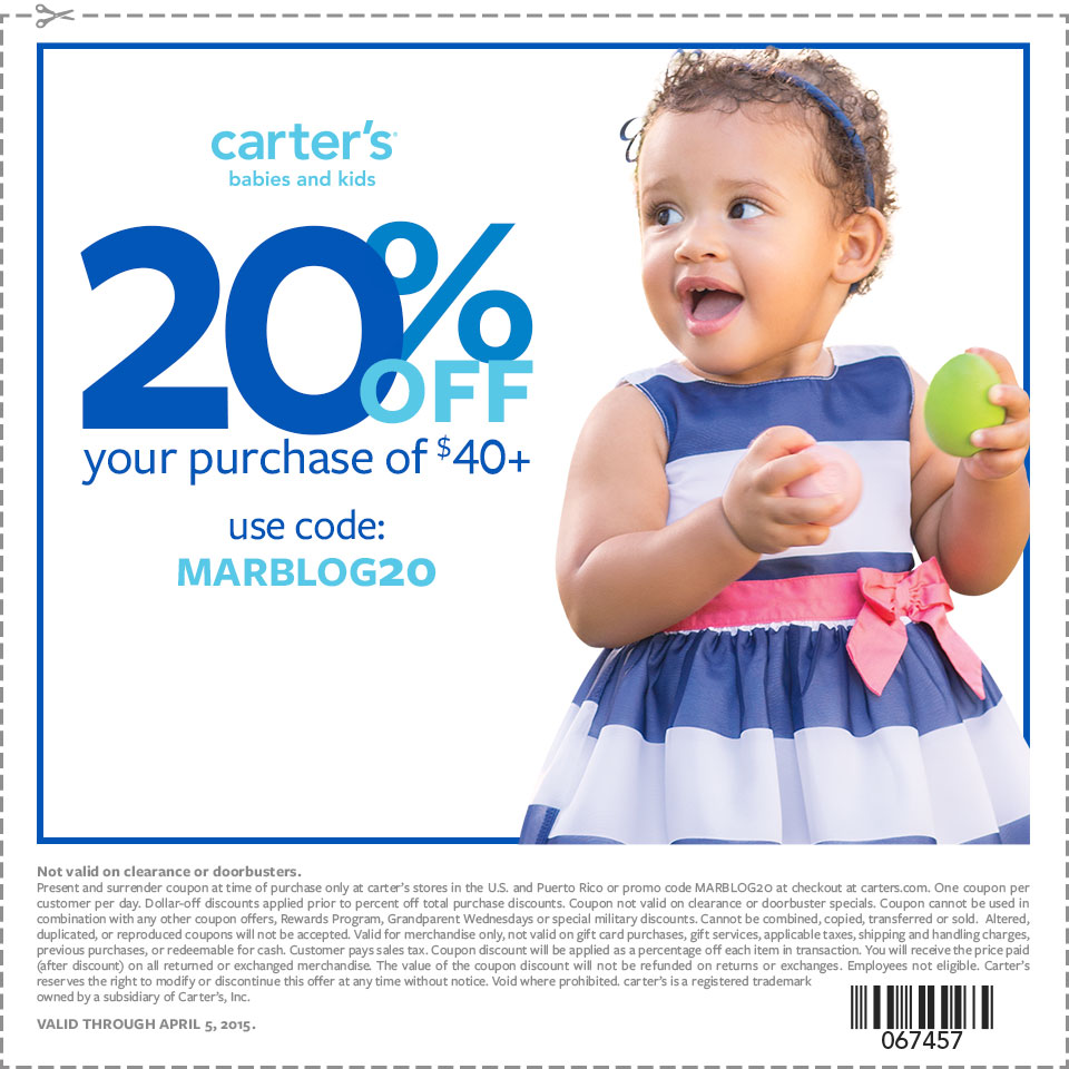 carters printable coupon in stores