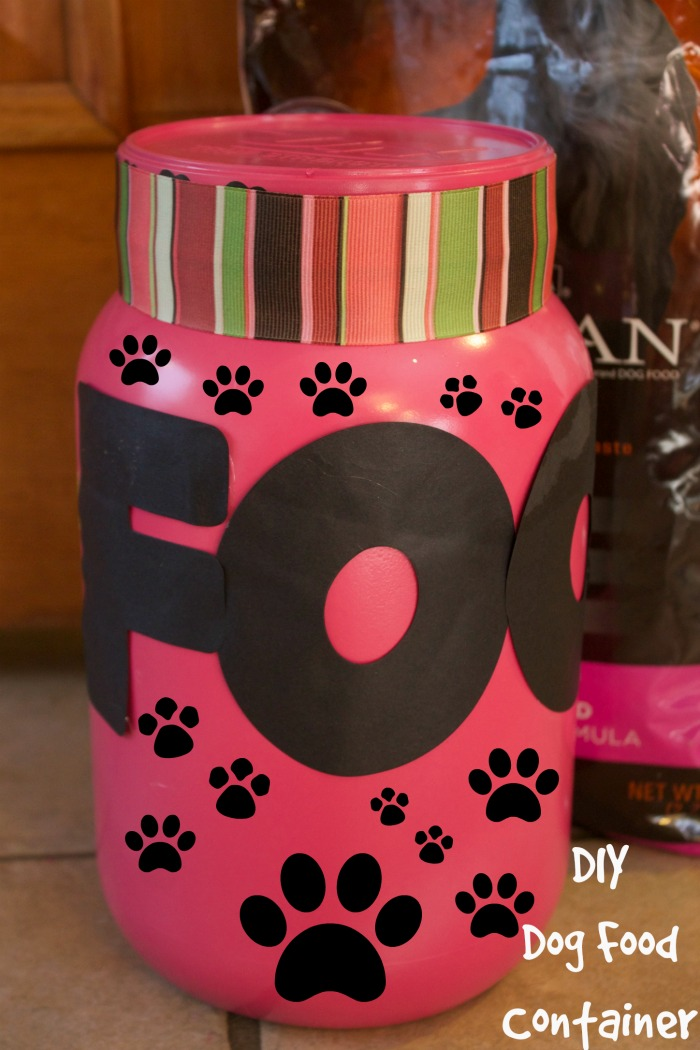 diy dog food container and pet food container. Black Bedroom Furniture Sets. Home Design Ideas