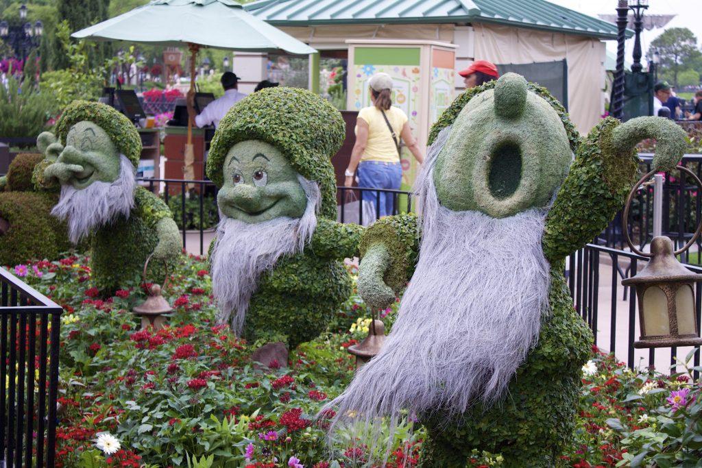 Epcot Flower and Garden Festival -seven dwarfs