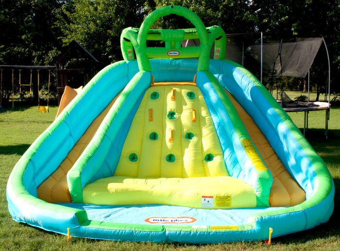 rocky mountain river race inflatable water slide