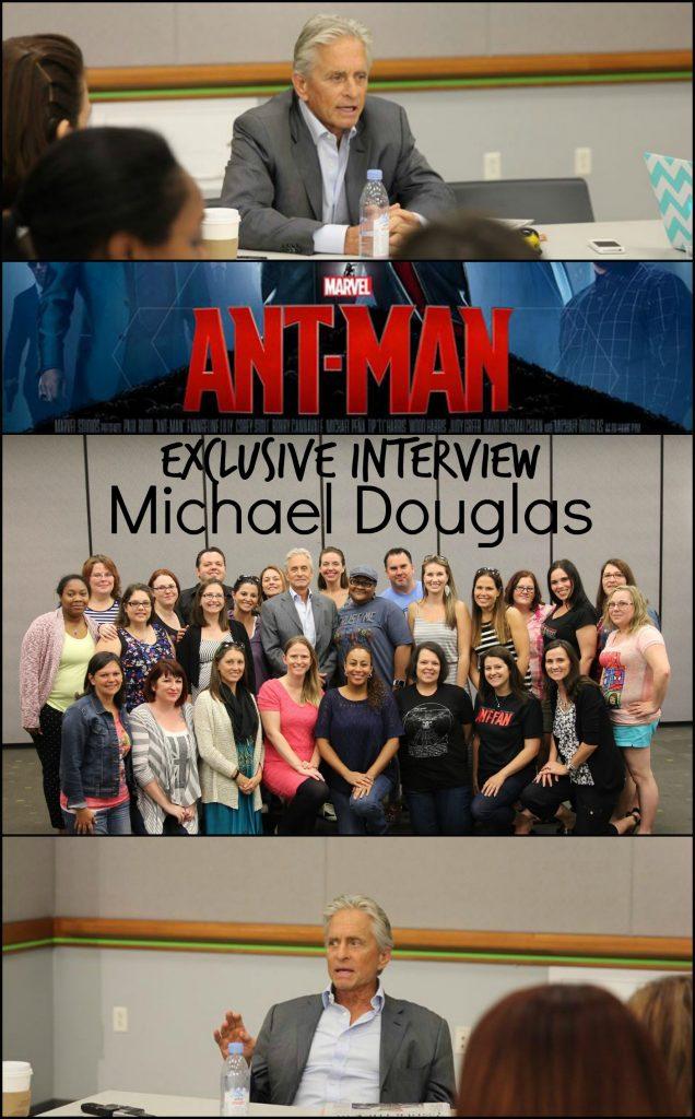 michael douglas interview in Ant-Man movie