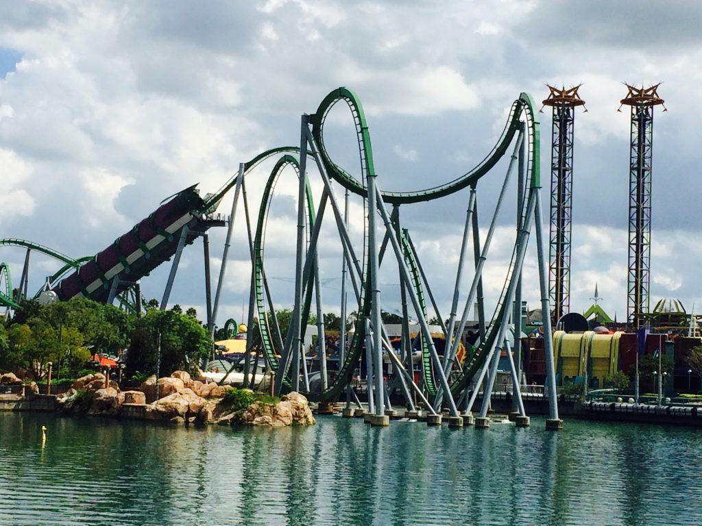 The Hulk Roller Coaster at Universal