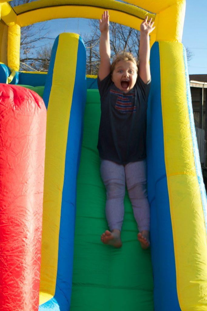 giant slide bouncer little tikes