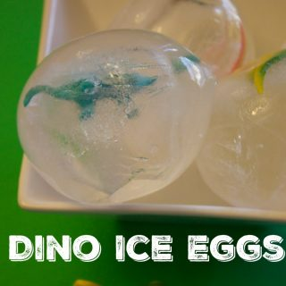 Fun Dinosaur Activity For Kids-Dinosaur Ice Eggs Excavation