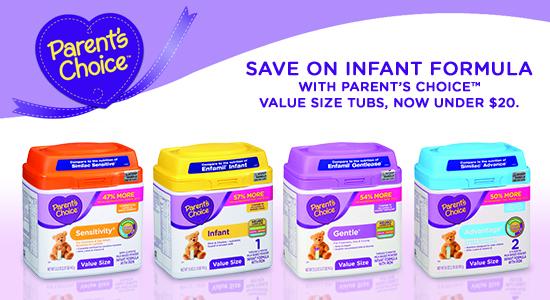 save on infant formula