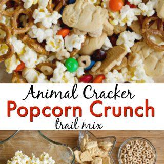 Animal Cracker Popcorn Trail Mix