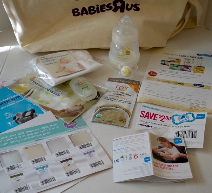 free goodie bag at Babies R Us