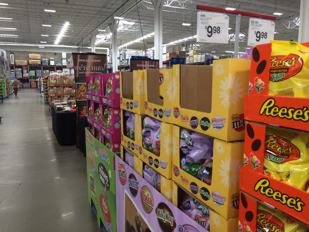 Easter candy at Sams