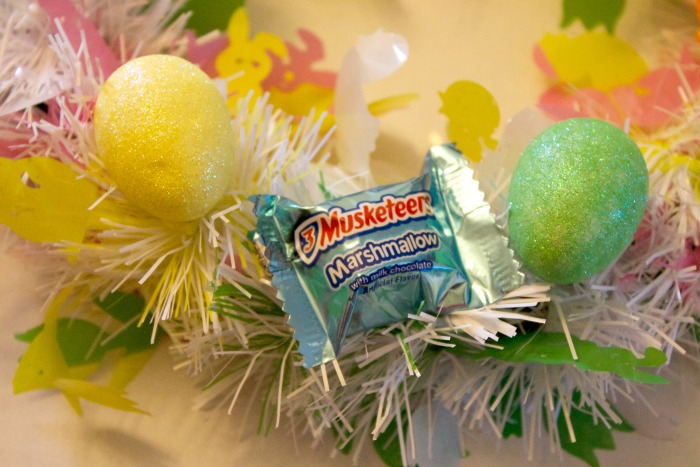 Wreath made with candy