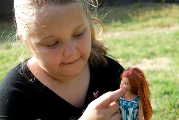 barbie doll with freckles