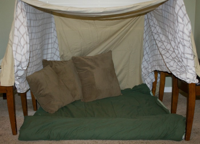 inside pillow fort
