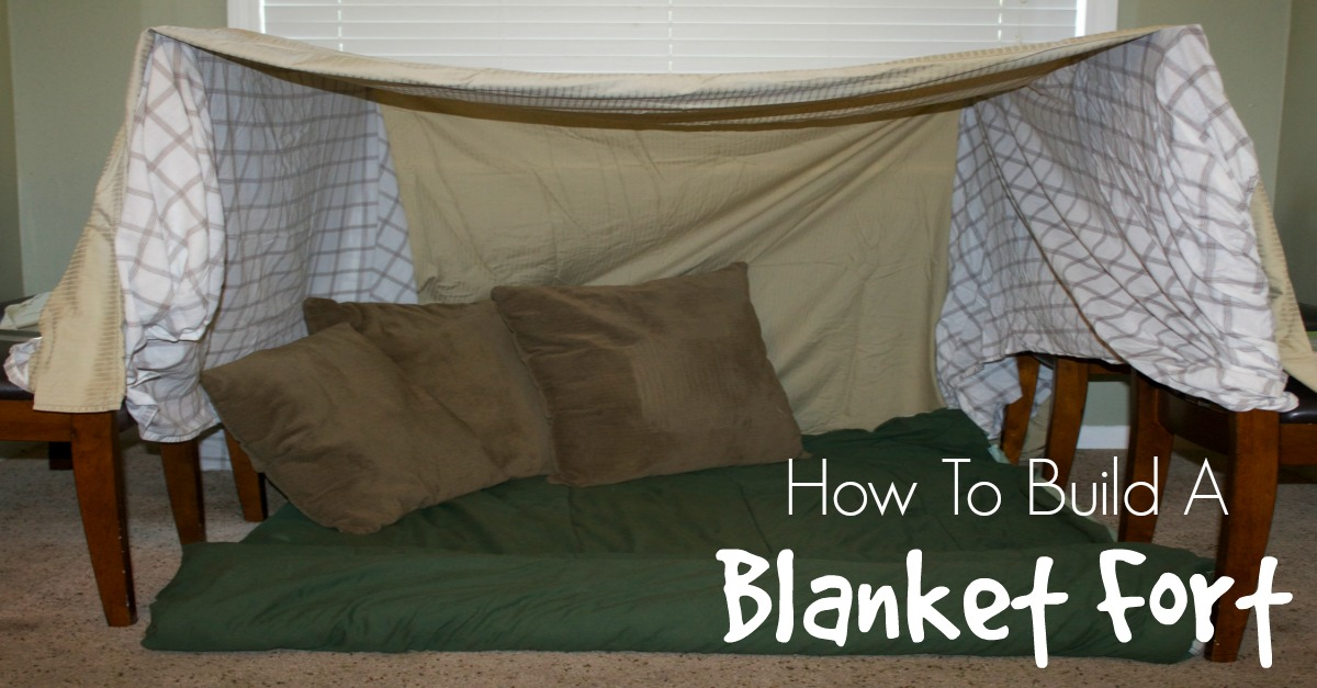 Cars For Kids >> Step By Step Instructions on How To Make a Blanket Fort