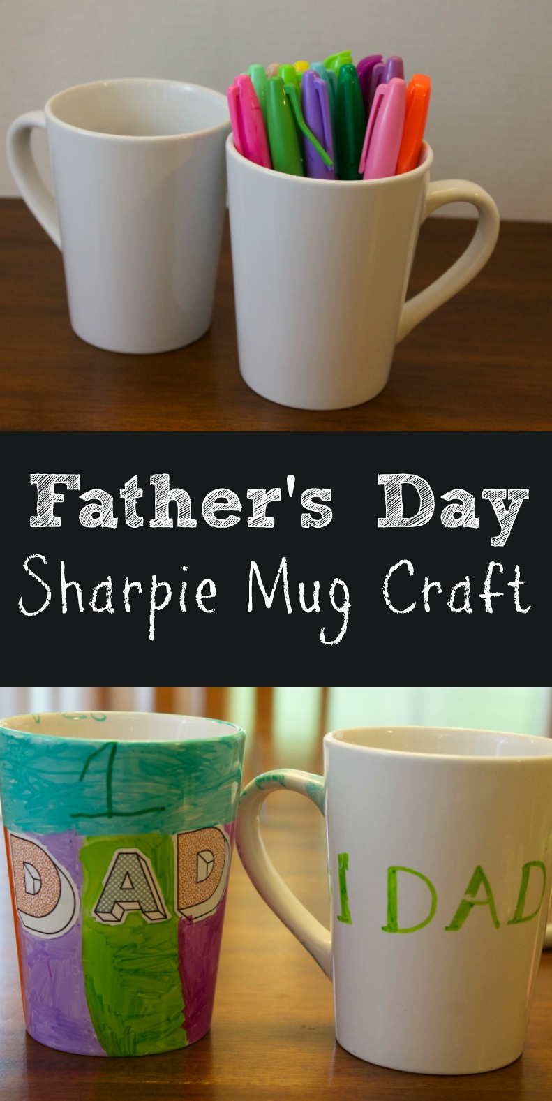 Sharpie Mug Easy Kids Craft For Father S Day