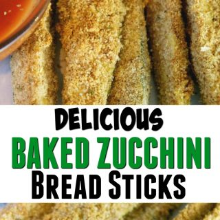 Delicious Baked Zucchini Breadsticks