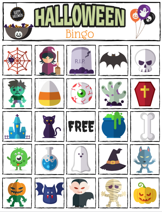 graphic relating to Printable Halloween Bingo titled Halloween Bingo Printable Superior for Halloween Cl Get-togethers.