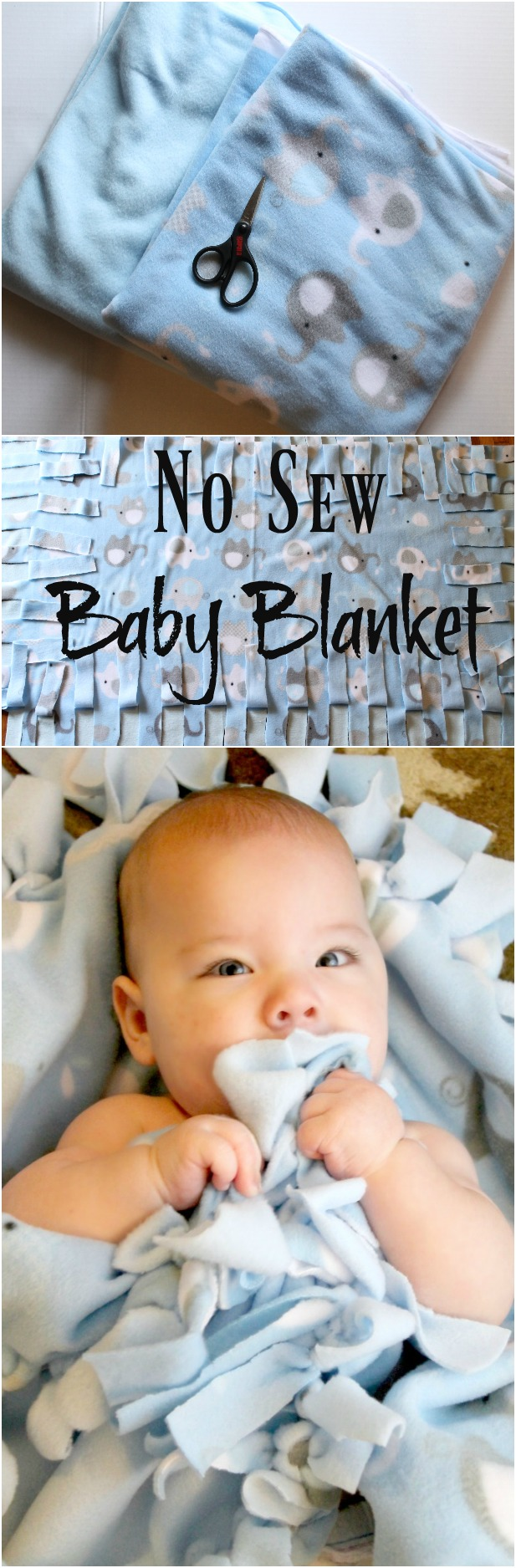 Step by step Instructions with Pictures on How to Make a No Sew Blanket