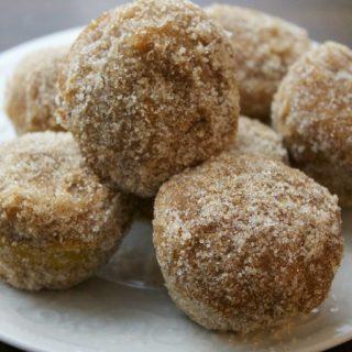 Baked Cinnamon Sugar Pumpkin Donut Holes