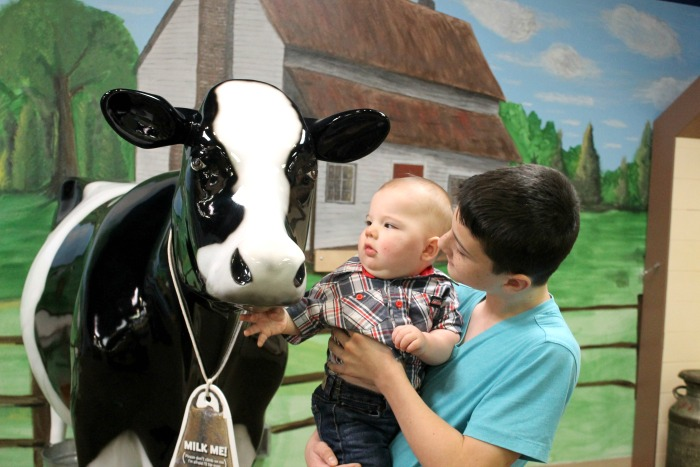 Milking Cow at Kids Museum