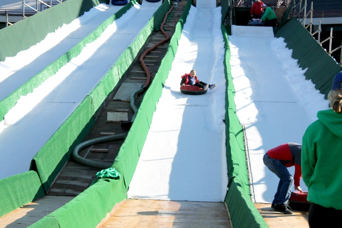 Snow Tubing at Chickasaw Bricktown Ballpark