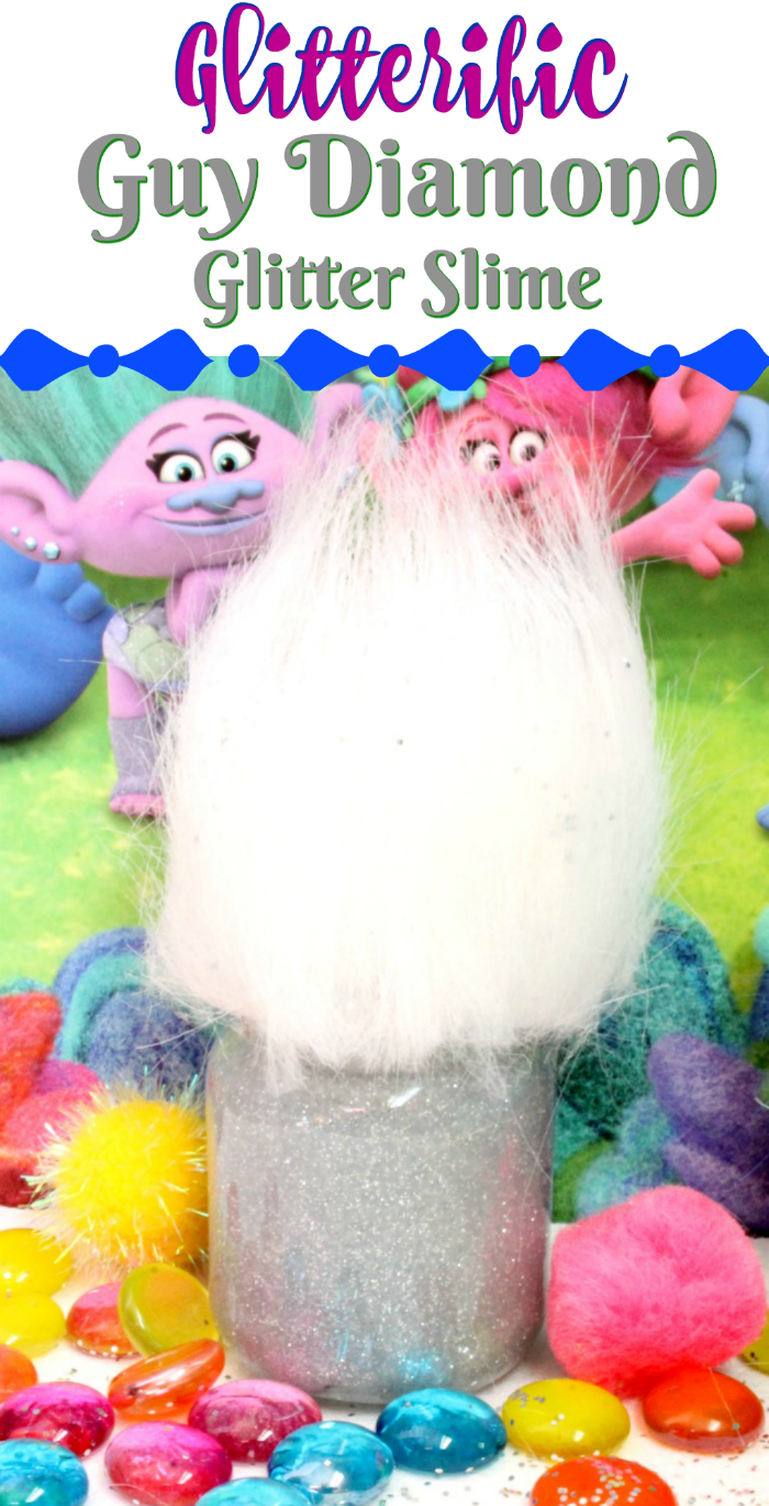 Trolls Diamond Guy Glitter Glue Slime Recipe