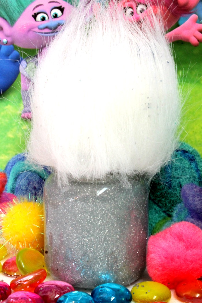 Trolls Movie Inspired Glitter Glue Slime Recipe