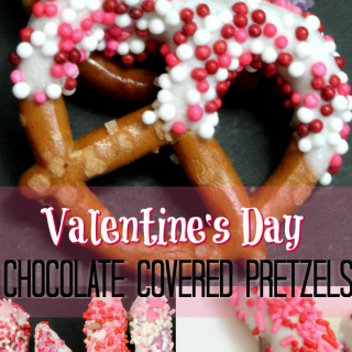 Chocolate Covered Valentine Dipped Pretzels