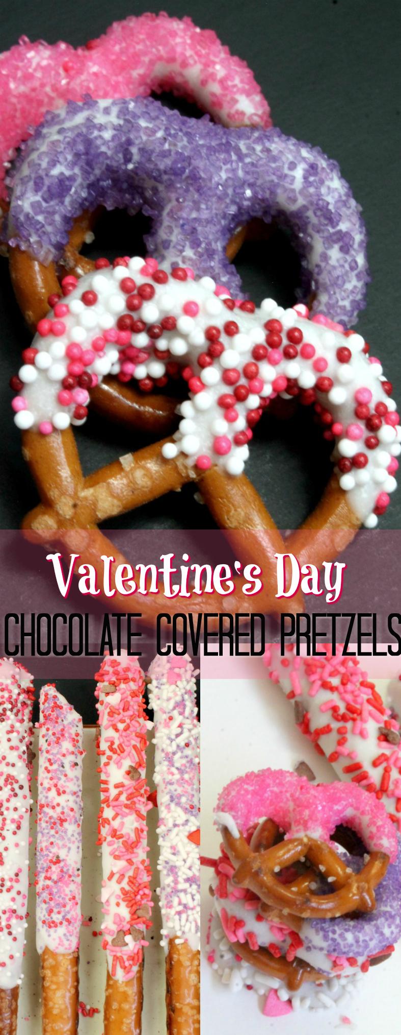 Valentine Dipped Pretzels Kid Friendly Valentine Recipes