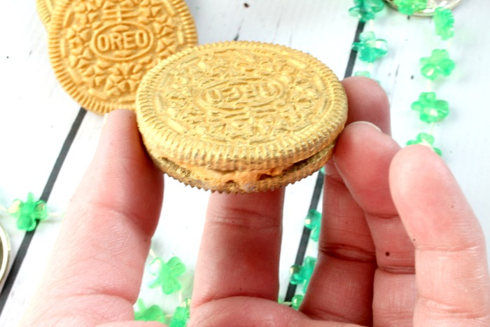 edible gold covered Oreos
