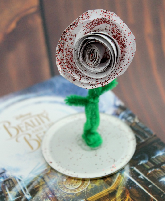 Easy Diy Paper Roses Beauty Beast Enchanted Rose Craft For