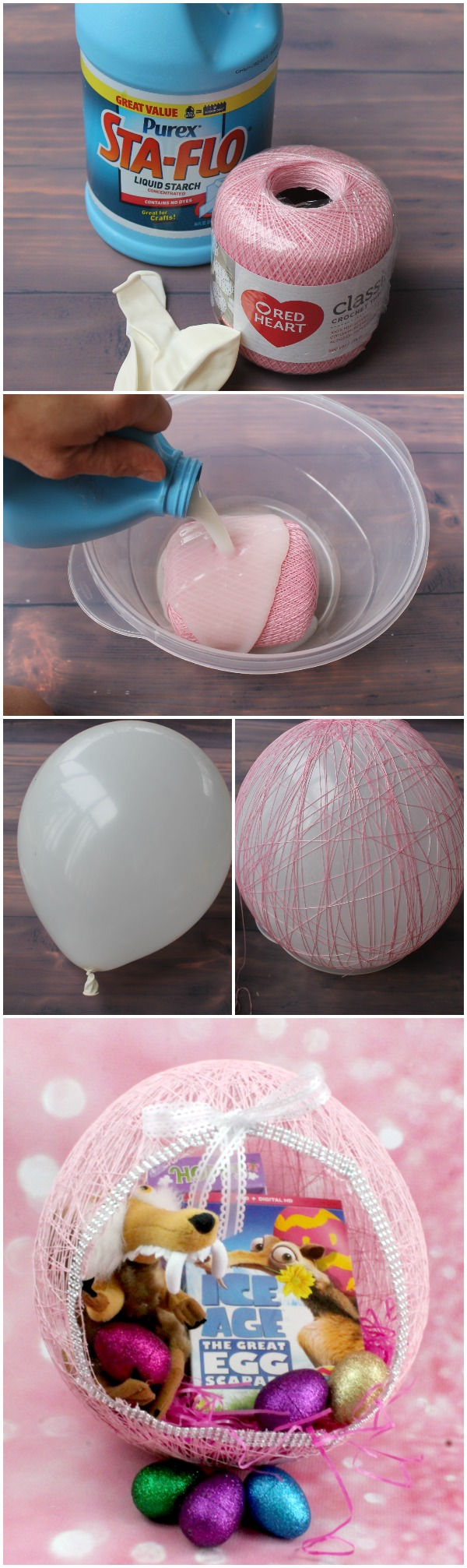 DIY String Easter Egg Baskets