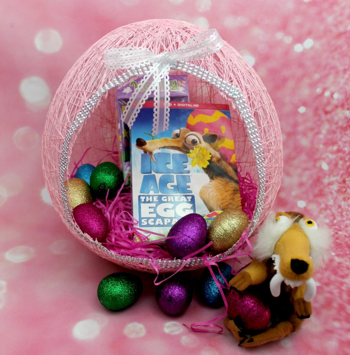 Easter Egg Balloon Yarn Basket DIY