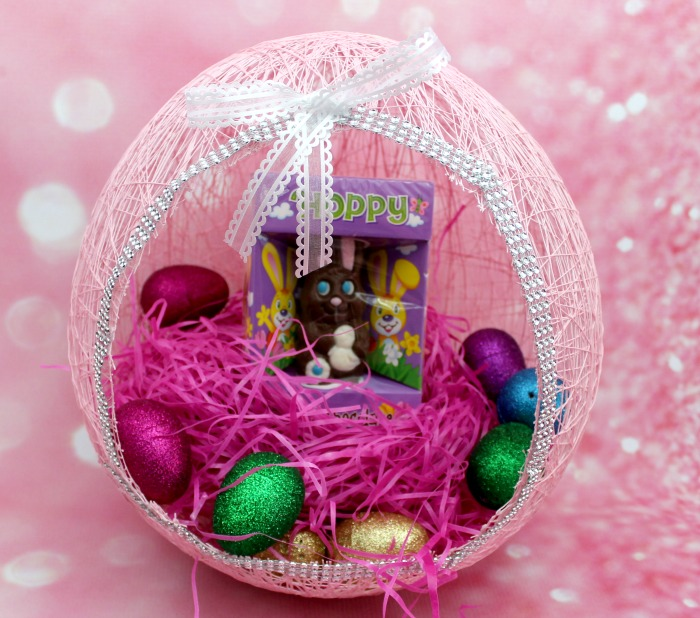 diy string easter egg baskets yarn craft