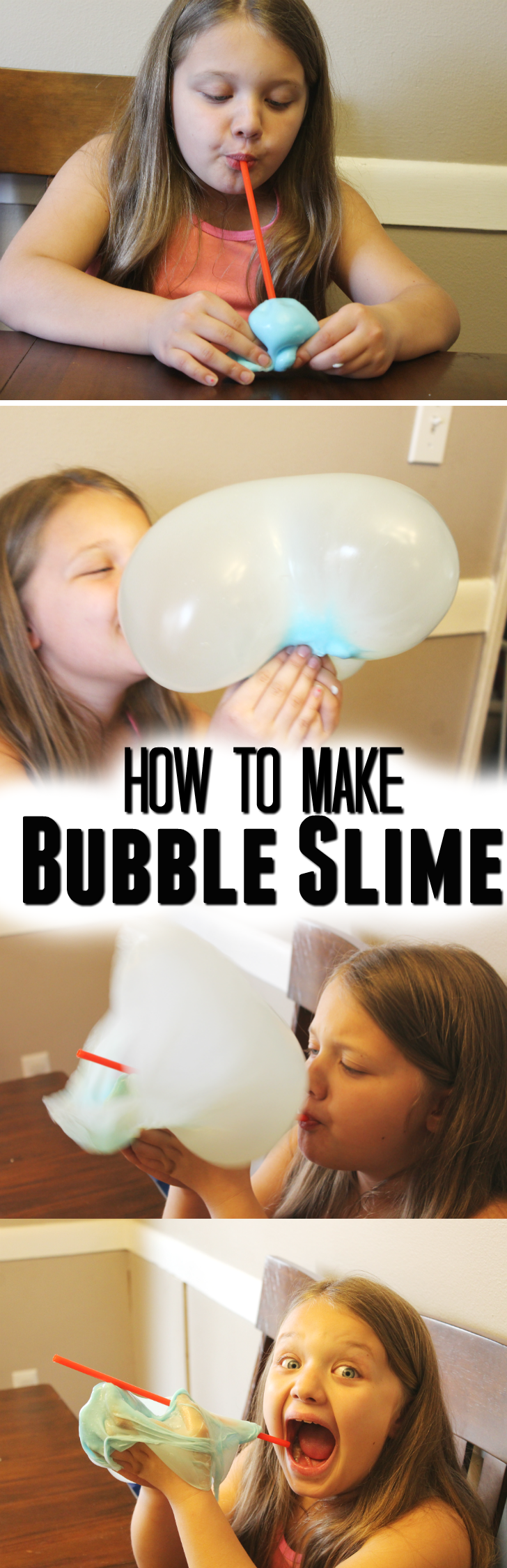 Blowing Bubbles with Bubble Slime Recipe