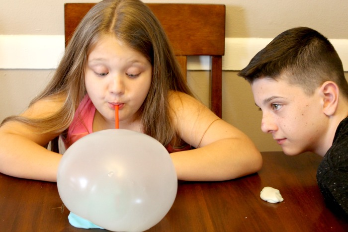 Kids Playing with Easy Bubble Slime Recipe