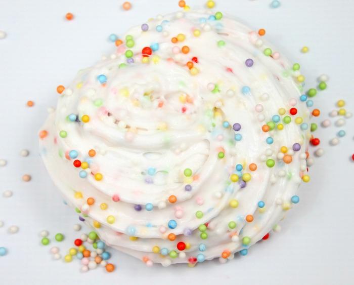 Birthday Cake Confetti Slime Recipe-Best Fluffy Slime