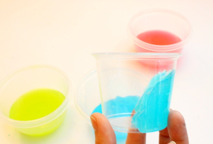 Neon Colored Avalanche Slime For Kids Recipe