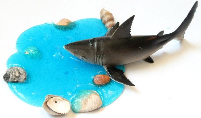 Shark Activities For Kids DIY Clear Slime