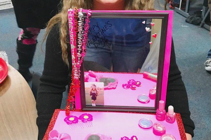 Vanity Valentine Day Box Idea for Girls