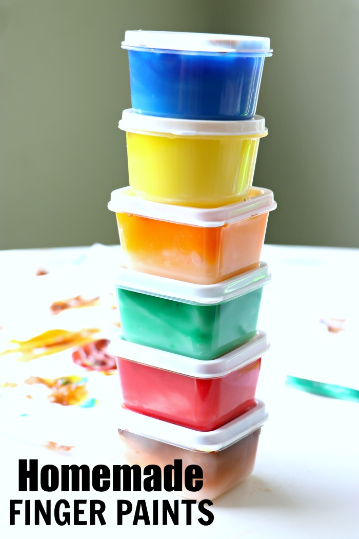 colorful homemade finger paints recipe
