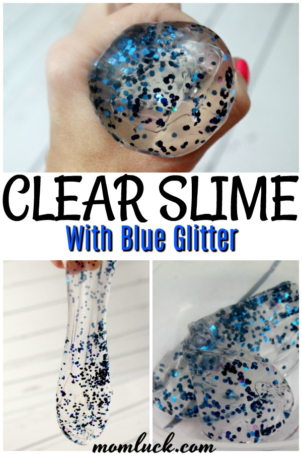how to make clear glue slime